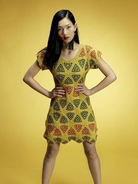 sukienka z elementow
