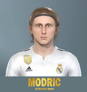 PES 2019 Faces Luka Modrić by Jarray & The White Demon