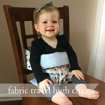 live a little wilder: fabric travel high chair {DIY tutorial}