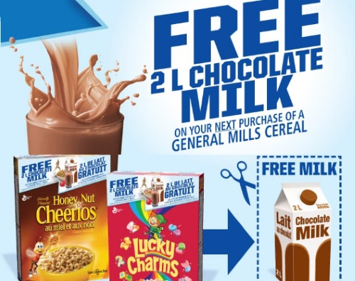 General Mills Free Chocolate Milk Promotion