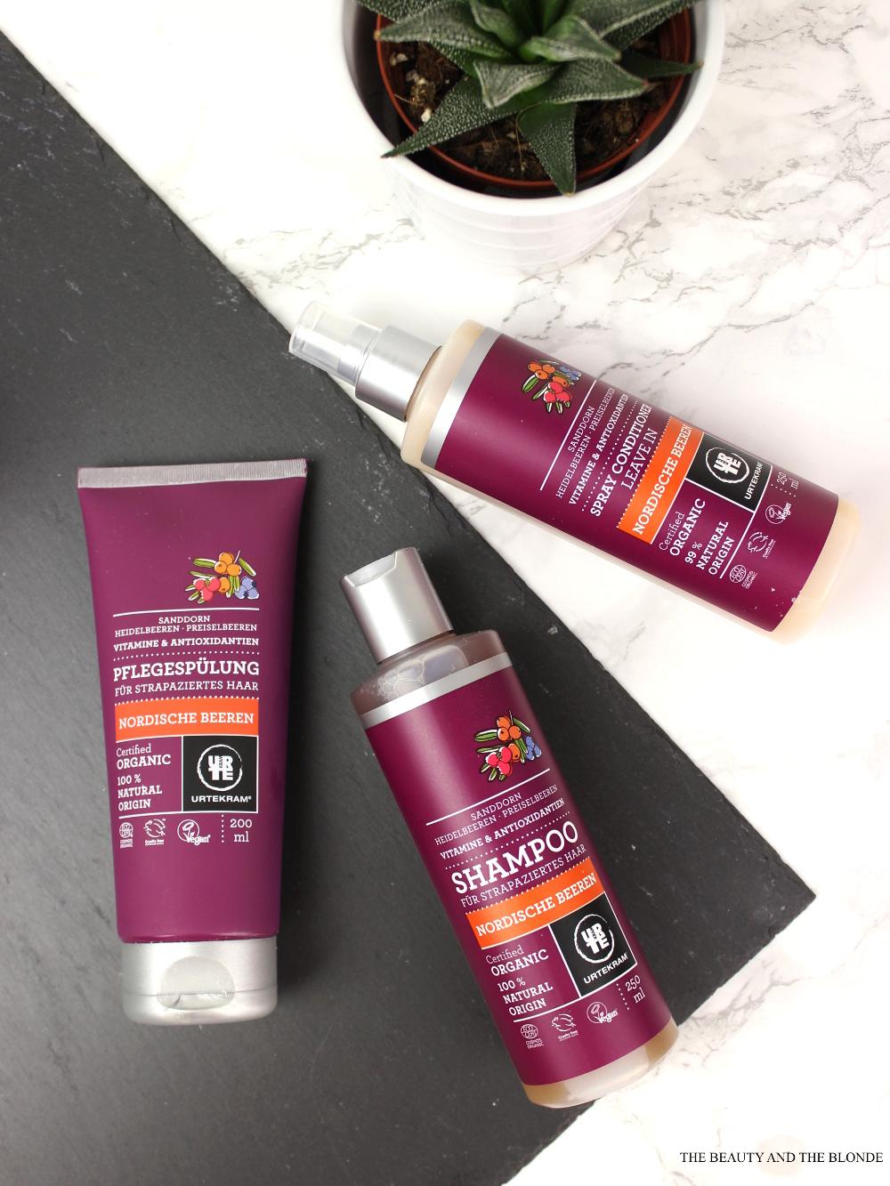 Urtekram Nordische Beeren Shampoo Spülung Sprühconditioner Review Naturkosmetik Haarprodukte