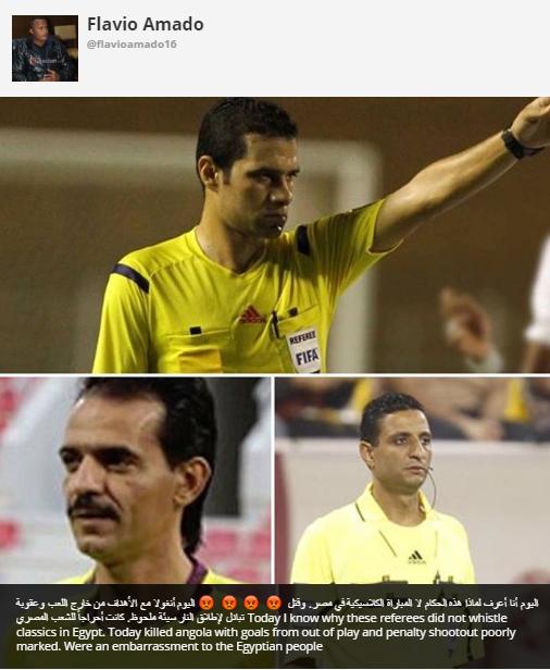 تصفيات الكان: فلافيو يفتح النار على حكام مصريين بعد خسارة أنجولا أمام بوركينا فاسو