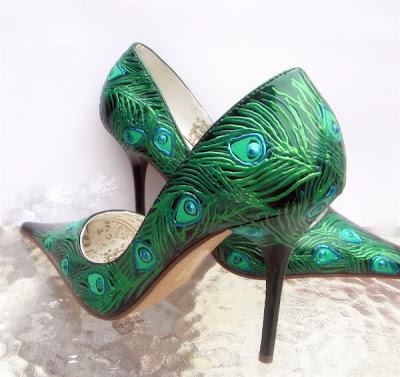 Peacock Shoe Clips Uk