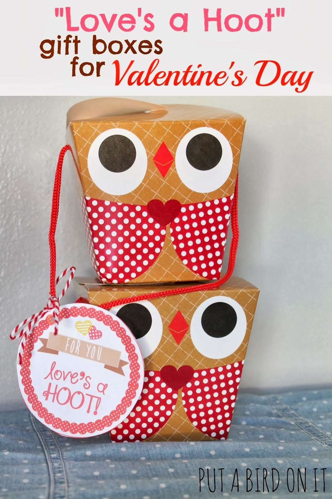 valentine owl gift boxes