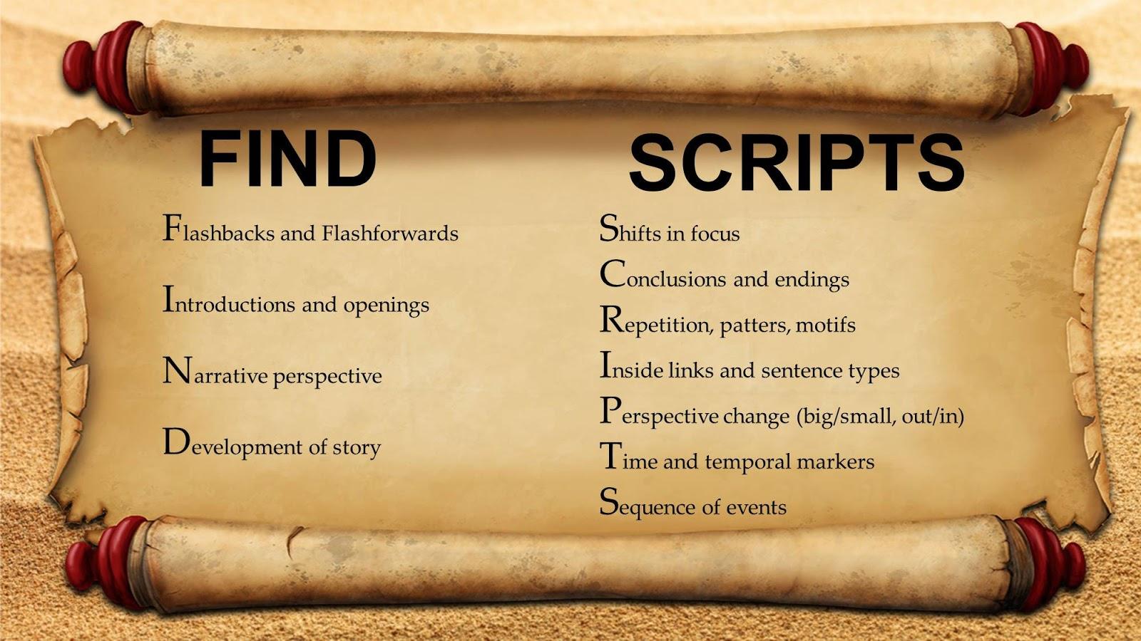 how to find script in pdf