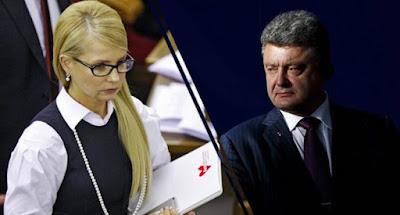 Порошенко и Тимошенко провели предвыборные мероприятия в Киеве