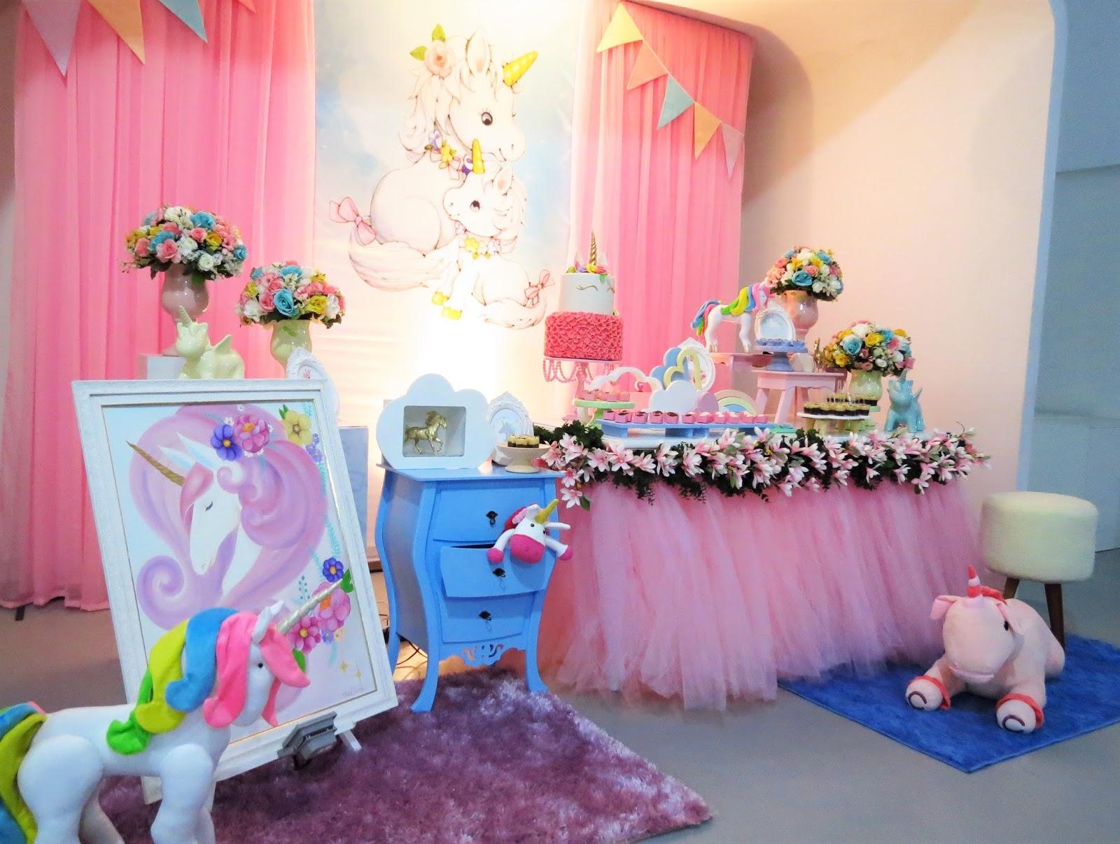 Minha Festa De UnicÓrnio: Farolita Decoração De Festas Infantis: UNICÓRNIOS