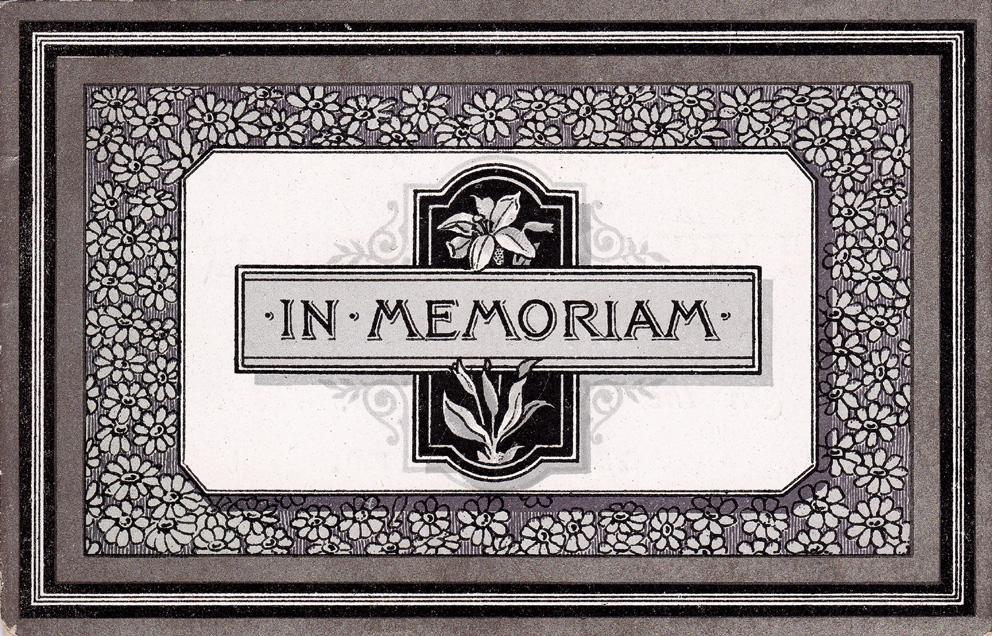 The lothians in memoriam further victorian 39 in memoriam for In memoriam cards template