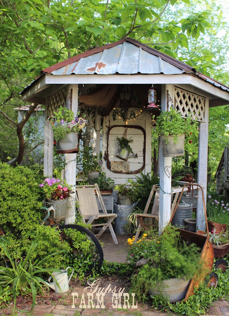 rustic, reclaimed gazebo
