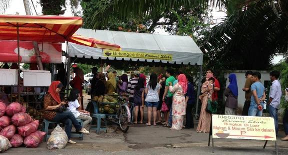 Klebang coconut shake Tempat Menarik Melaka
