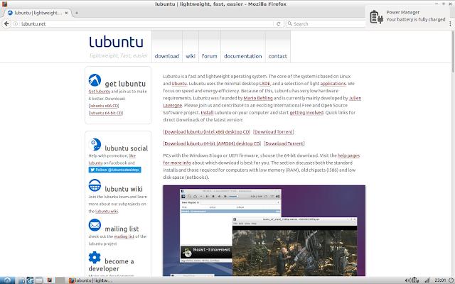 Lubuntu running Firefox
