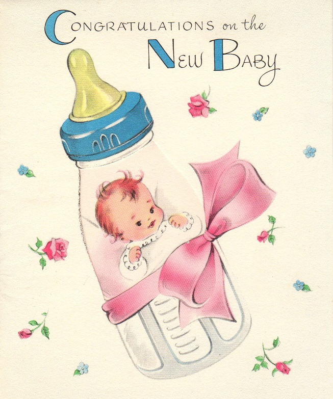 New Baby Greeting Cards 1956 | Organized Clutter