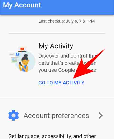 This Google activity check option gives you all the reports of the activity and hence provides security