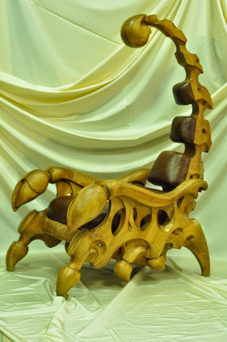Hand crafted Chairs Shaped Like Giant Scorpions