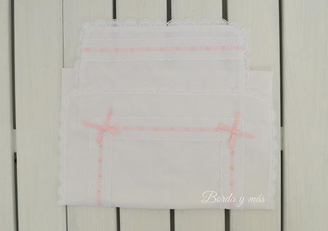 conjunto de sábanas carrito blanco rosa