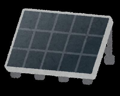 黒いソーラーパネルのイラスト