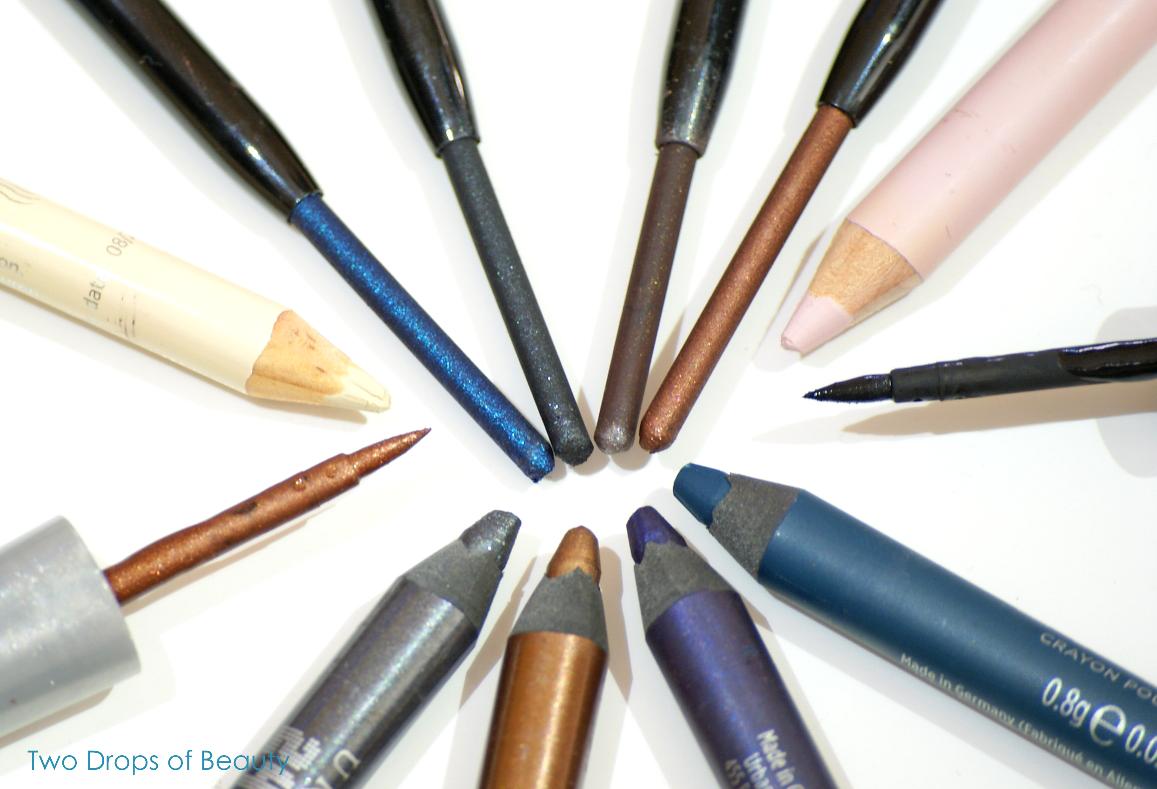 инвентаризация, карандаш для глаз, подводка, синий, фиолетовый, коричневый