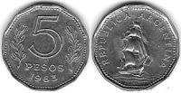 5 pesos argentinos