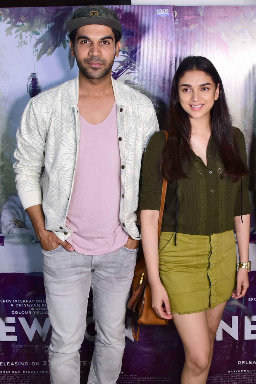 Rajkummar Rao and Aditi Rao Hydari at Special Screening of 'Newton'