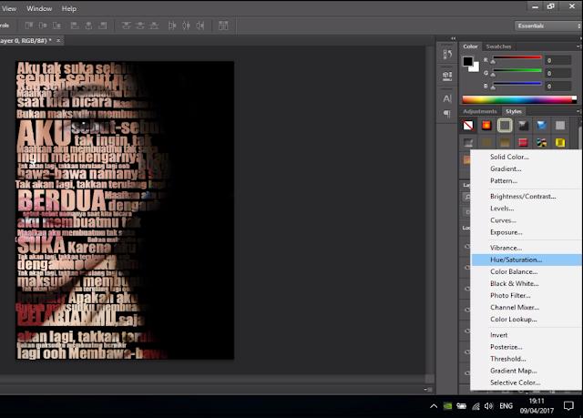 Cara Membuat Text Portrait Pada Wajah (Typography) 17