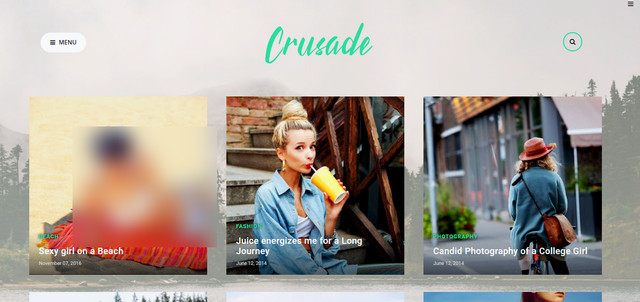 Crusade Photography Responsive Blogger Templates
