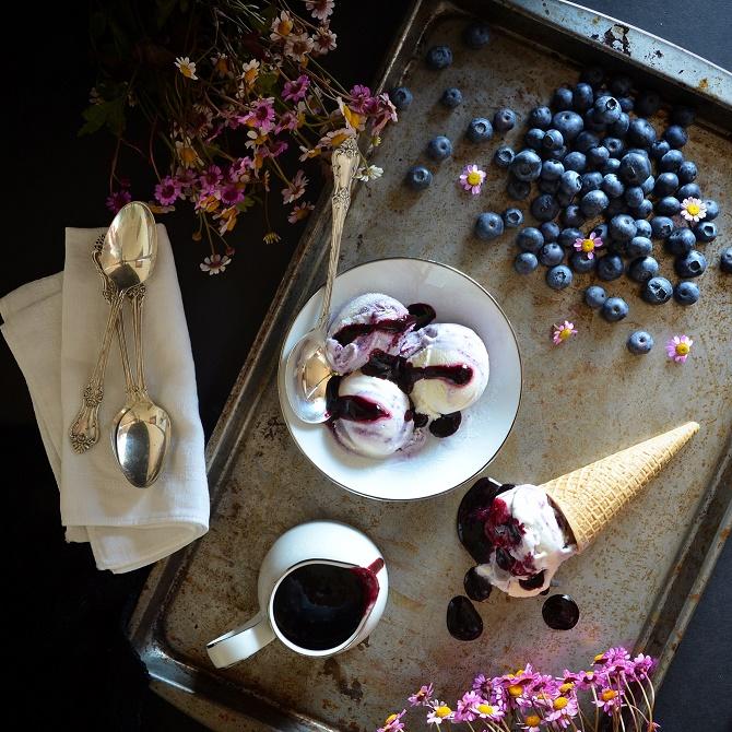 Blueberry Swirl Ice Cream recipe