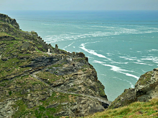 First view of King Arthur's Tintagel Castle