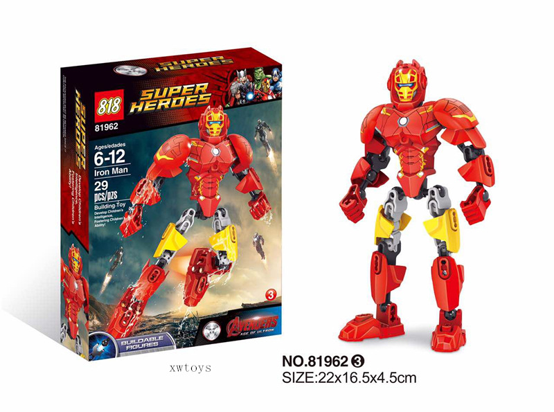 downtheblocks: 818 818962: Marvel and DC Buildable Figures Preview