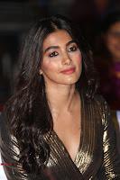 Pooja Hegde looks glamarous in deep neck sleevless short tight golden gown at Duvvada Jagannadham thank you meet function 064.JPG