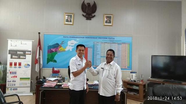 BNN dan Dinas Pendidikan Provinsi Papua Koordinasi Advokasi Anti Narkoba