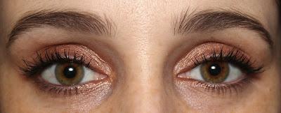 Colourpop rose gold eyeshadow LaLa swatch eye look