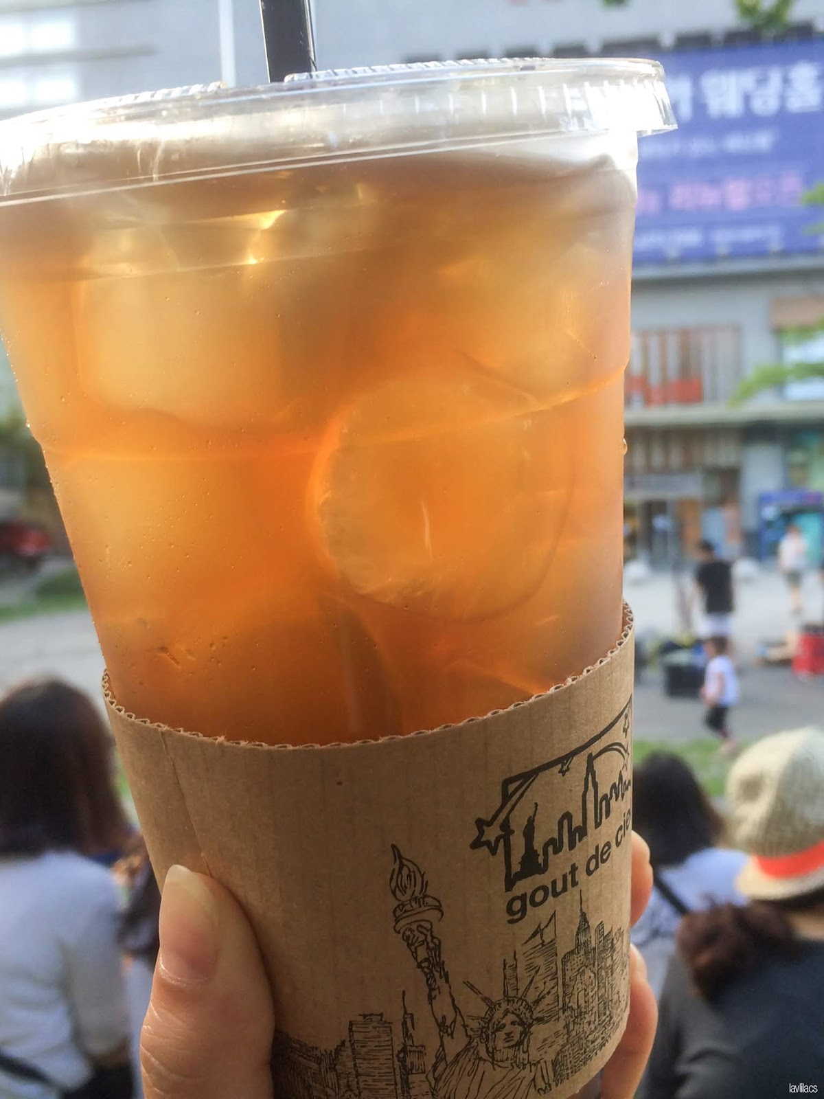 Seoul, Korea - Summer Study Abroad 2014 - Edae Paris Creperie Ice Tea