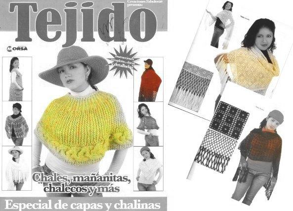 11 Capas y chalinas muy especiales para tejer