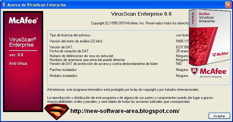 New Software Area: Free Download McAfee Virus Scan Enterprise 8 8