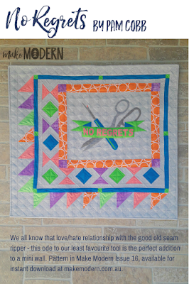 Make Modern Issue 16 No Regrets Pam Cobb Applique Modern quilting