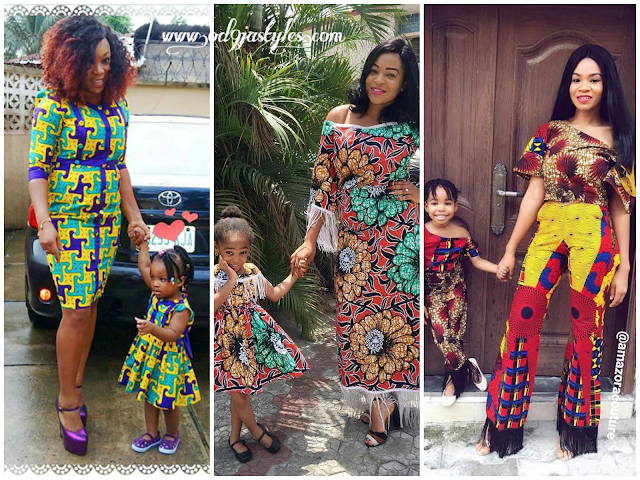 Mother And Daughter Ankara styles In Latest Fashion Trends