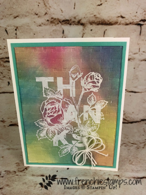 Floral Statement, Glossy Resit technique, Stampin'Up!, Frenchiestamps,