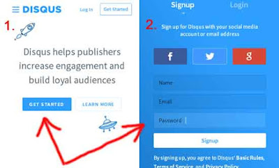 get started dan sign up disqus