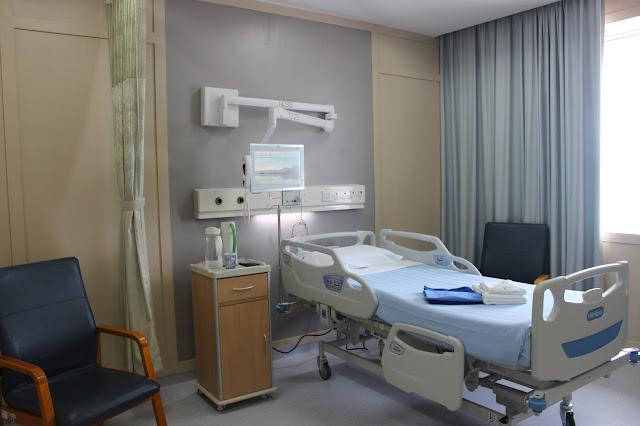Tempat tidur di JMC yang terintegrasi dengan internet dan tersambung dengan dokter yang merawat