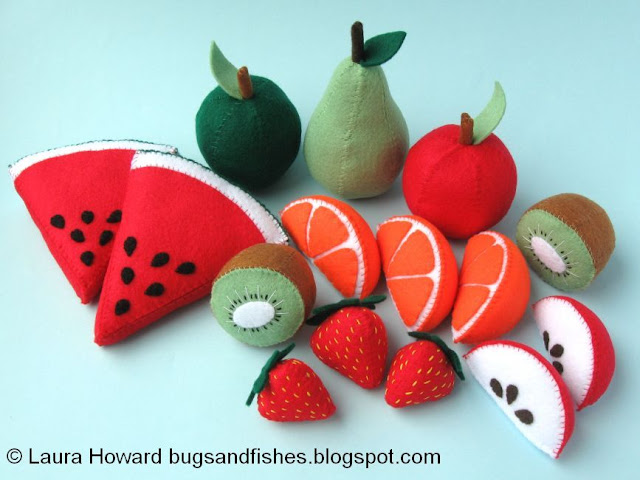 Felt faux fruit