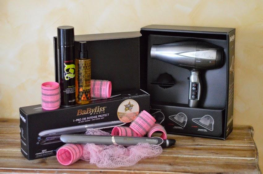 babilyss kit arricciacapelli con prodotti