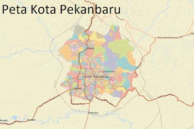 Peta Kota Pekanbaru