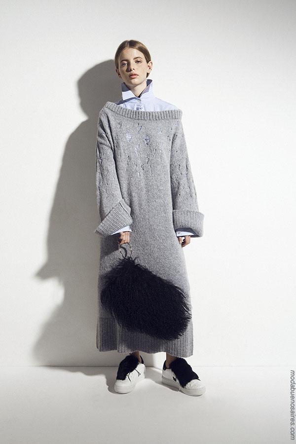 Moda otoño invierno 2018 vestidos tejidos. Ropa otoño invierno 2018.