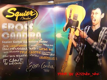 EROSS CANDRA and his TELECASTER SIGNATURE SERIES