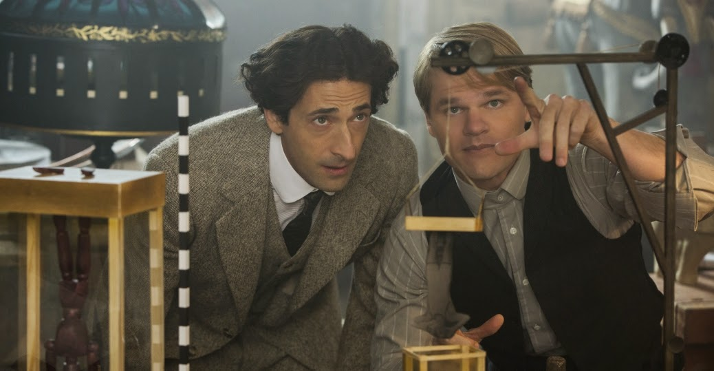 Adrien Brody as Harry Houdini and Evan Jones as his faithful assistant Jim Collins in History Channel TV Mini-Series Houdini