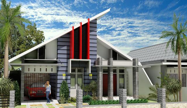 Atap rumah Model Sandar