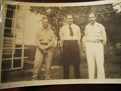 Climbing My Family Tree: Don (left - had cast on leg) and his brothers: Paul (middle) and Clarence (right - my grandfather)