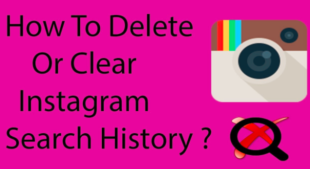 clear search history in instagram