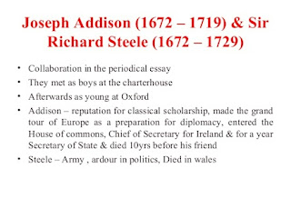 The characteristics of the age of addison and steele
