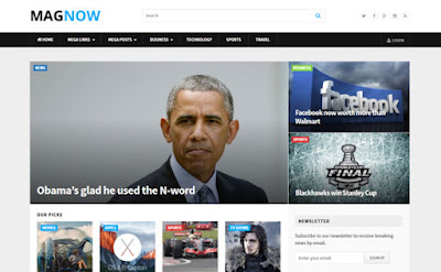 Free Download MagNow Fully Customizable Magazine WP Theme